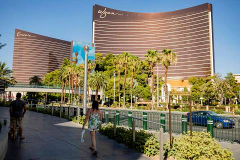 A view of the Wynn Las Vegas and Encore along the Las Vegas Strip in 2020 in Las Vegas. (Las Ve ...