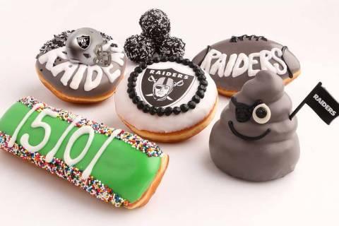 Pinkbox introduces Raiders-themed doughnuts. (Pinkbox Doughnuts)