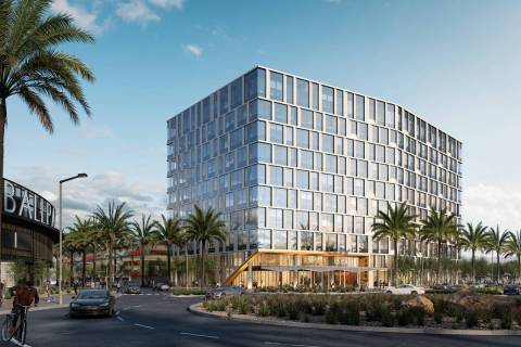 The Howard Hughes Corp. is developing a 10-story office building, a rendering of which is seen ...