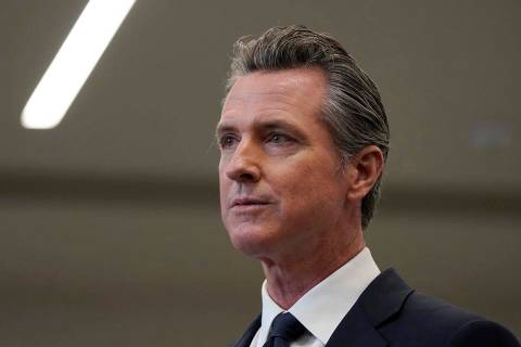In a July 26, 2021, file photo Gov. Gavin Newsom speaks at a news conference in Oakland, Calif. ...