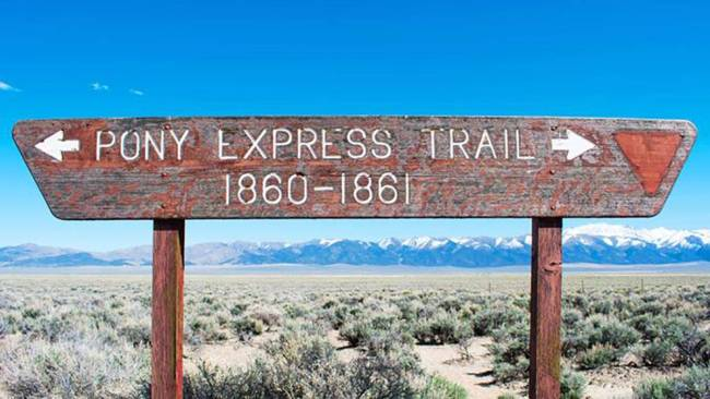 In 1860, the Pony Express was founded. It was a horseback message  transportation  work  that ran from S ...