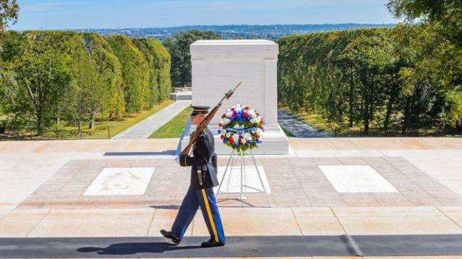 In 1921, the Tomb of the Unknown Soldier was created with approval from Congress to bury the un ...