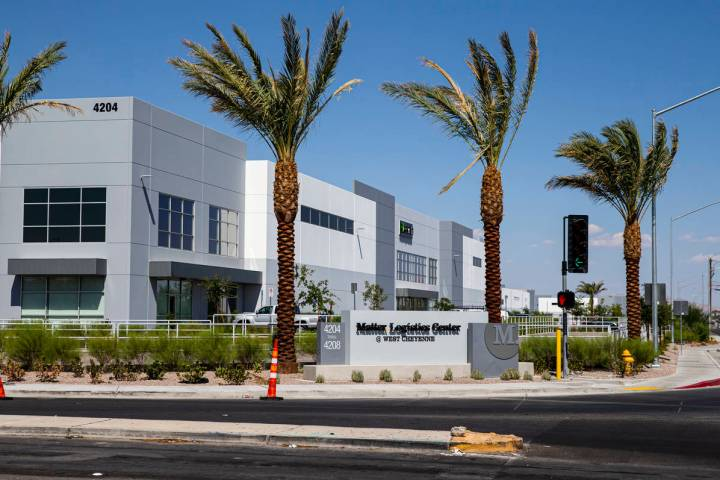 Signage for the Matter Logistics Center industrial complex is pictured in North Las Vegas on Mo ...
