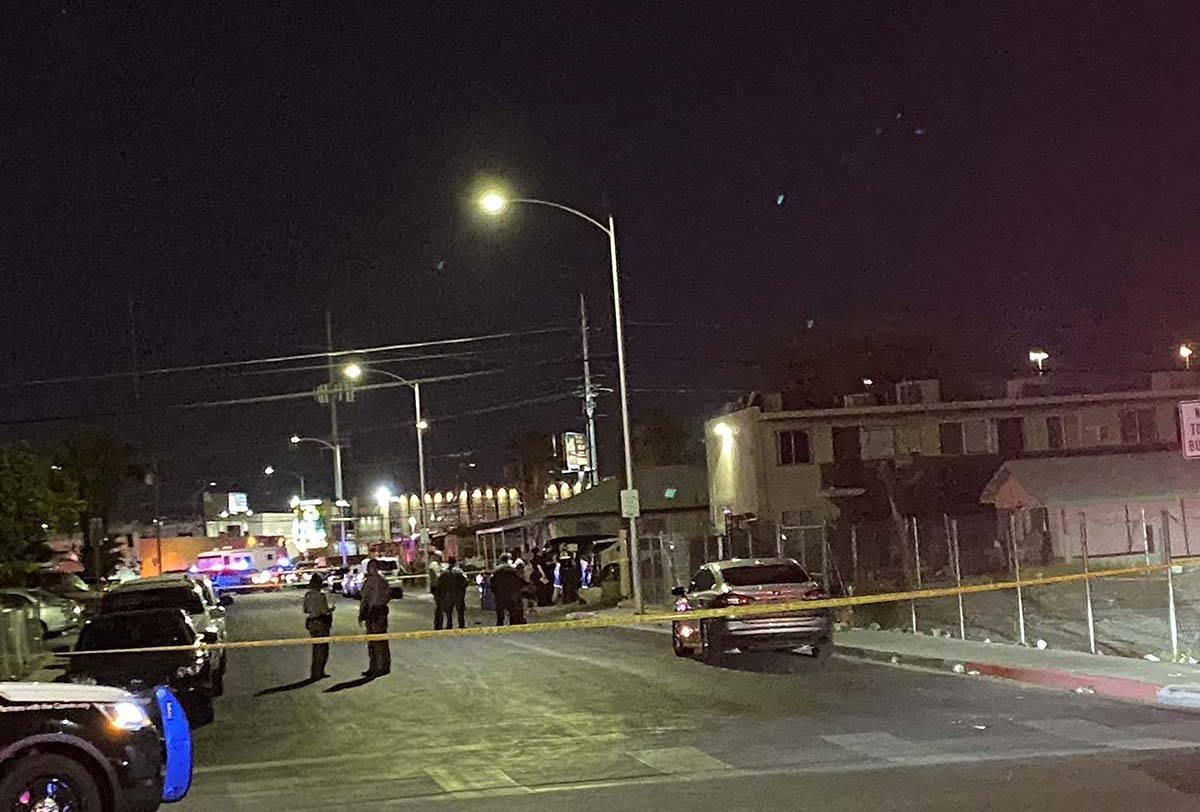 Las Vegas constabulary  are investigating a treble  homicide successful  cardinal  Las Vegas. (Glenn Puit / Las Ve ...