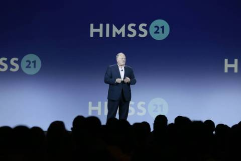 Hal Wolf, president and CEO of the Healthcare Information and Management Systems Society, welco ...