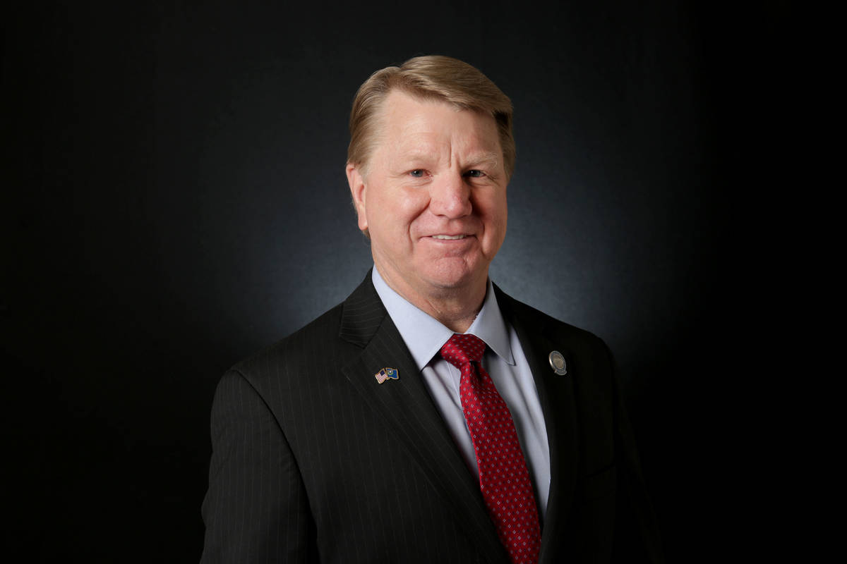 Jim Marchant, Republican candidate for Nevada secretary of state, is photographed at the Las Ve ...