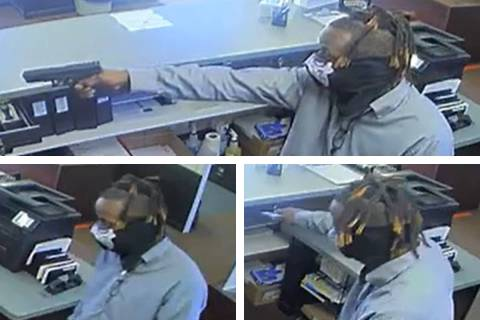 Police are seeking this man in connection to an armed robbery committed Monday, Aug. 9, 2021, o ...