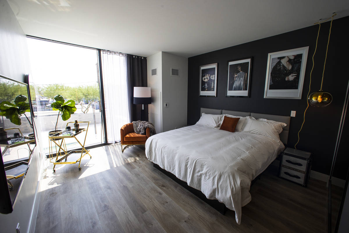 A room at The English Hotel, which is under-construction in Las Vegas' Arts District, on Thursd ...