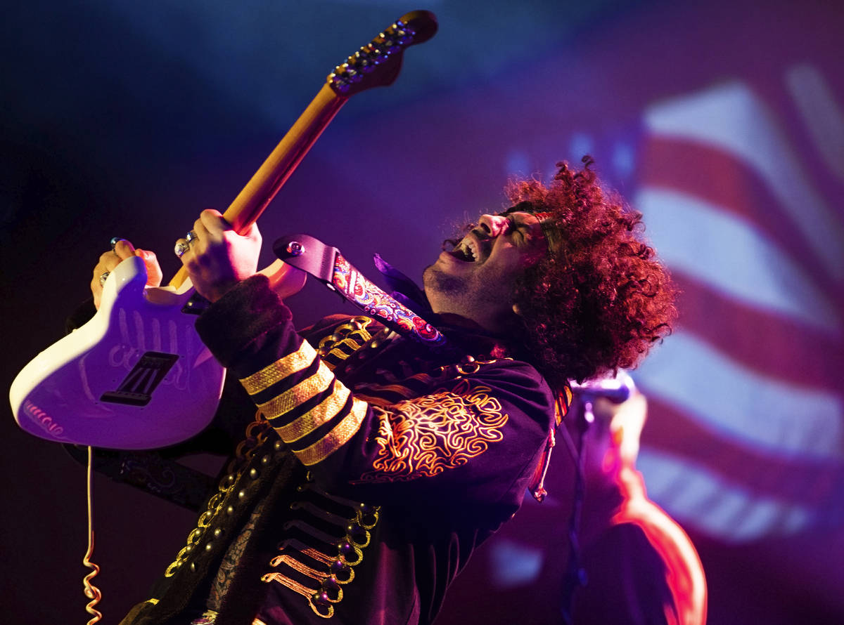 """Jimi Hendrix tribute artist Nazim Chambi is shown in """"27 - A Musical Experience,"""" is a new sh ..."""