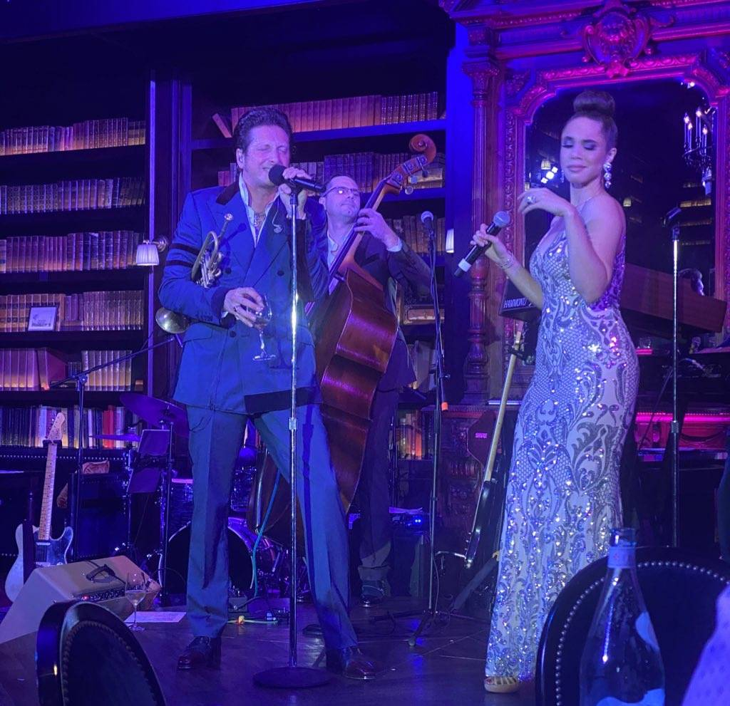"""Brian Newman and vocal great Jaclyn McSpadden perform in Newman's """"After Dark"""" show at NoMad Li ..."""