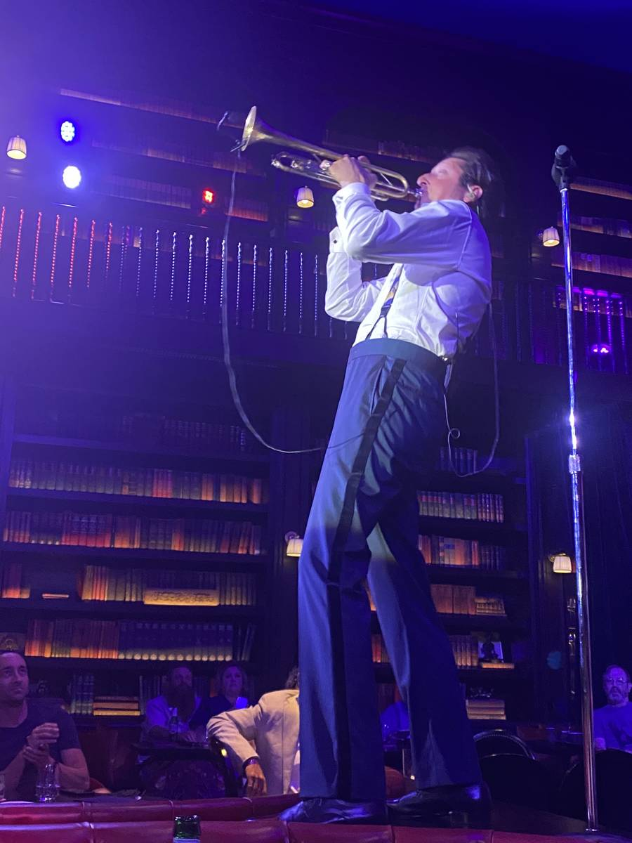 """Brian Newman performs in his """"After Dark"""" show at NoMad Library on Thursday, Aug. 12, 2021. (Jo ..."""