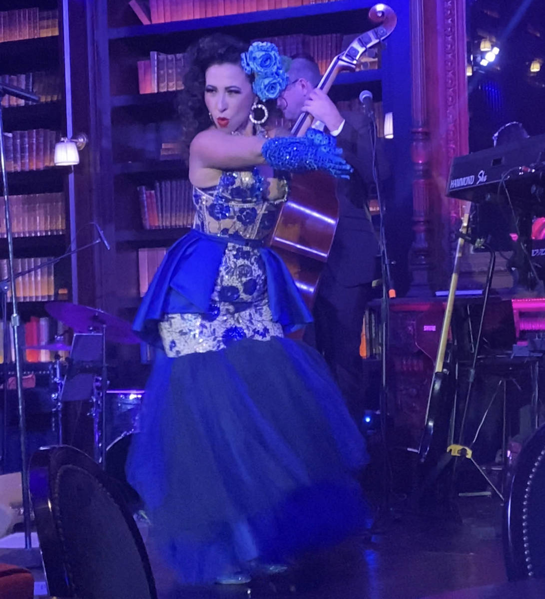 """Burlesque star Angie Pontani performs in Brian Newman's """"After Dark"""" show at NoMad Library on T ..."""