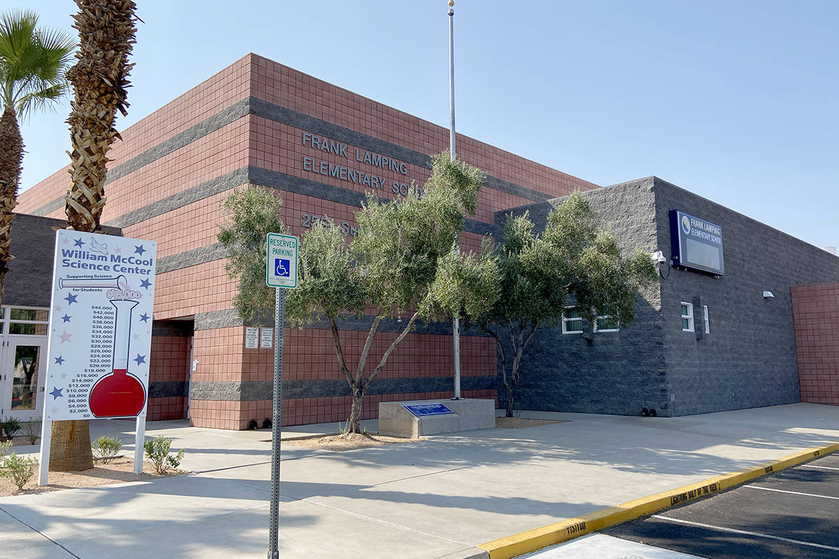 Frank Lamping Elementary school near Eastern Avenue and Summit Grove Drive in Henderson on Tues ...