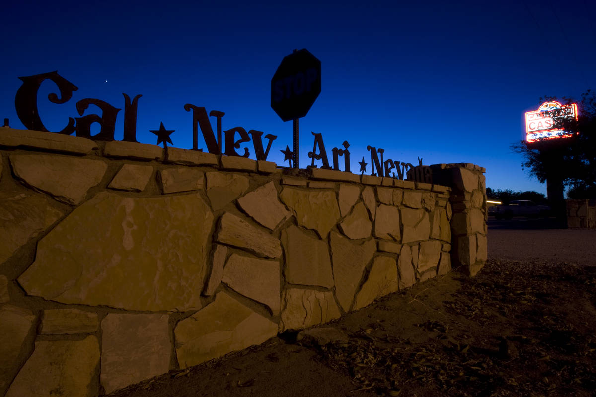 A sign is shown Wednesday, July 7, 2010, in Cal-Nev-Ari, about 70 miles south of Las Vegas on U ...
