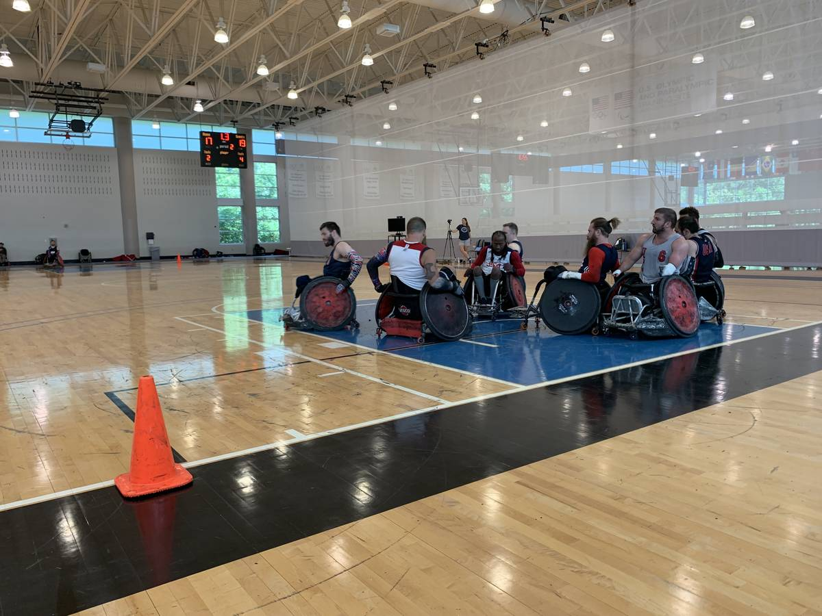 The U.S. wheelchair rugby team will participate in the Paralympics this week. Photo courtesy of ...