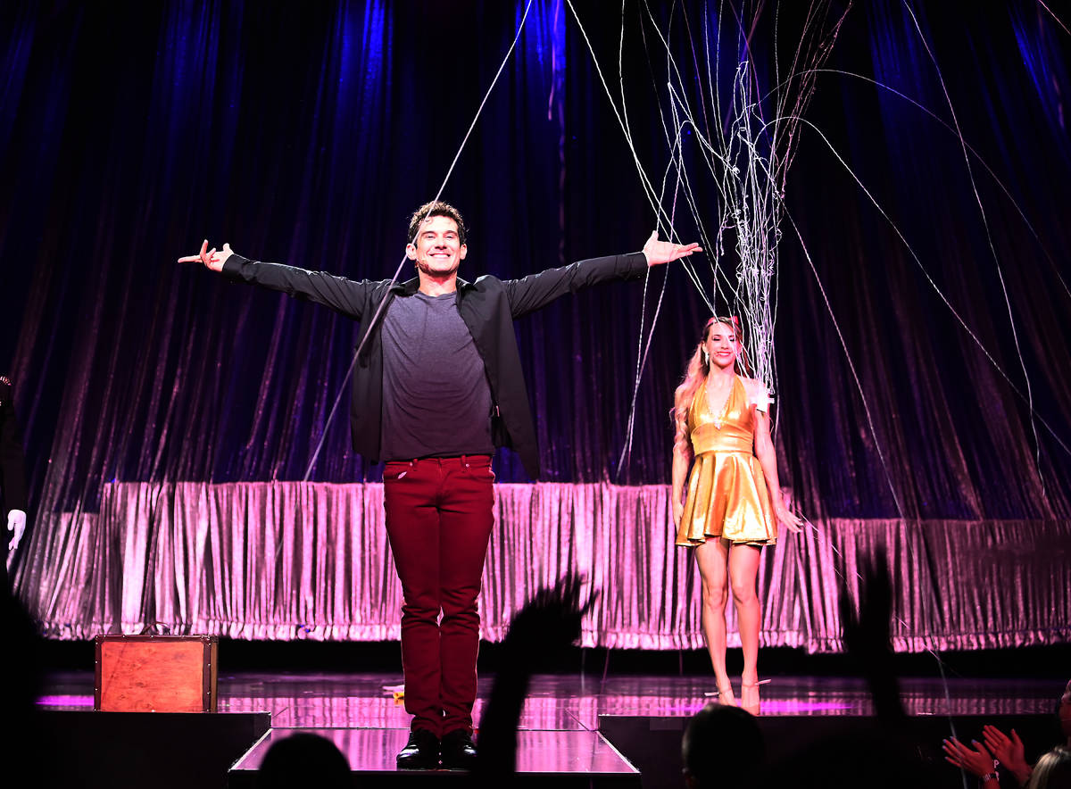 """Magician and internet phenomenon Xavier Mortimer performs in the world premiere of his show """"Th ..."""