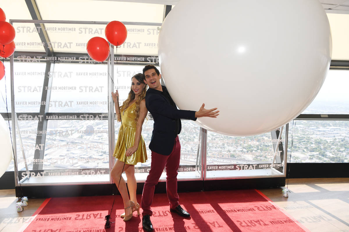 Allie Sparks and magician and internet phenomenon Xavier Mortimer performs in the world premier ...