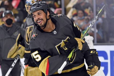 Vegas Golden Knights right wing Ryan Reaves (75) during the second period of Game 2 of a first- ...