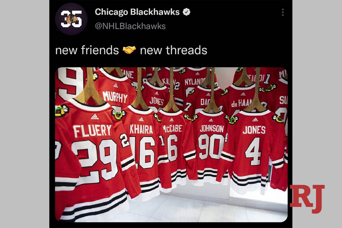The Twitterverse was abuzz on Thursday after the Chicago Blackhawks tweeted a photo welcoming t ...
