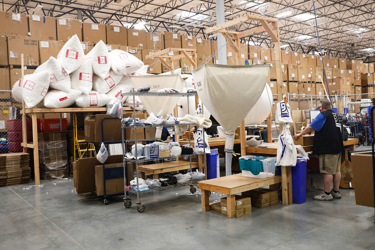 The e-commerce area at the warehouse at the Goodwill Clearance Center in Las Vegas, Monday, Aug ...