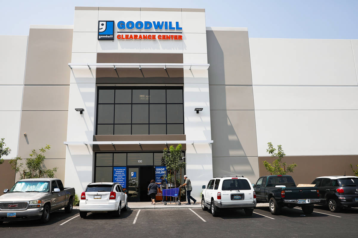 The Goodwill Clearance Center in Las Vegas, Monday, Aug. 16, 2021. (Rachel Aston/Las Vegas Revi ...