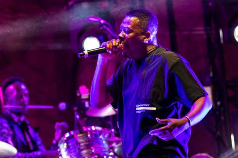 GZA performs during Psycho Las Vegas at Mandalay Bay in Las Vegas on Friday, Aug. 20, 2021. (Ch ...