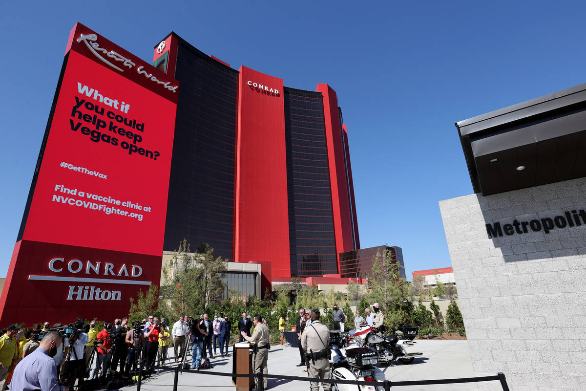 Las Vegas police Capt. Dori Koren opens the Las Vegas police community interaction kiosk at Res ...