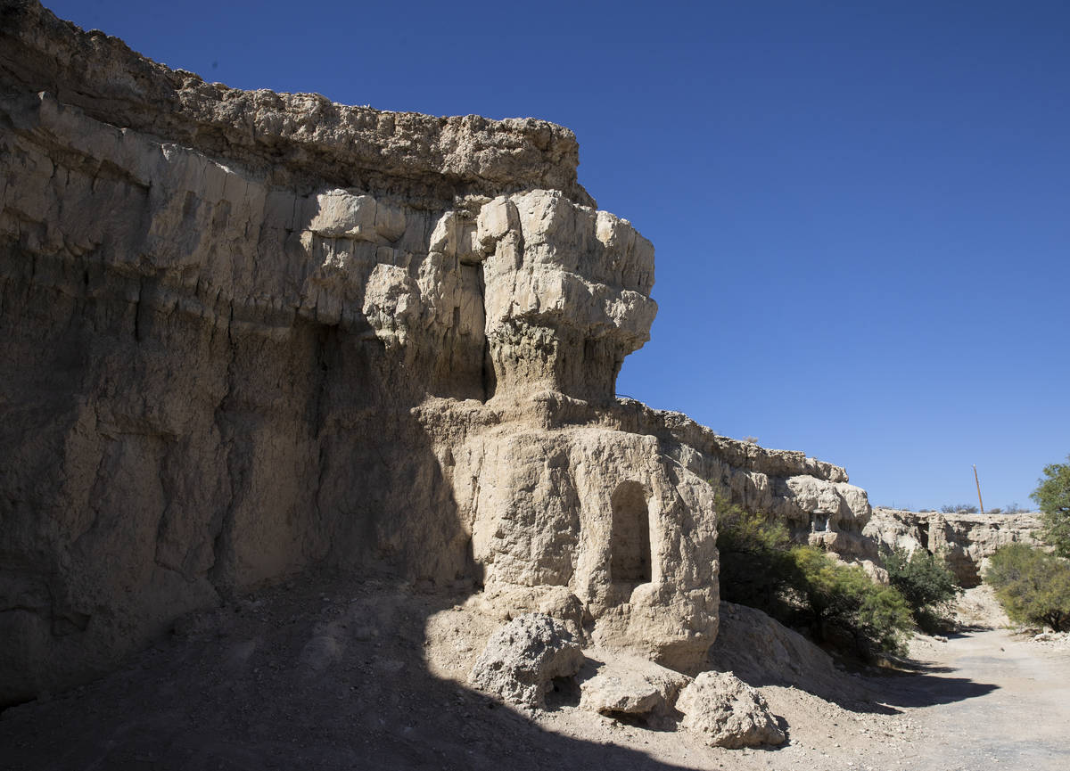 Cliffs are shown on Wednesday, Aug. 18, 2021 where Roy Jaggers, 27, of Las Vegas was found dead ...