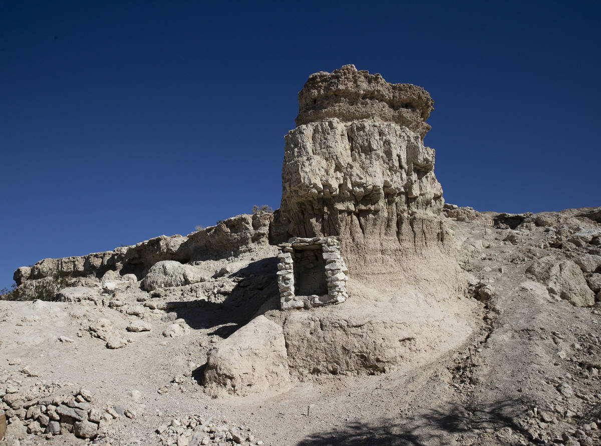 A cliff is shown on Wednesday, Aug. 18, 2021 where Roy Jaggers, 27, of Las Vegas was found dead ...