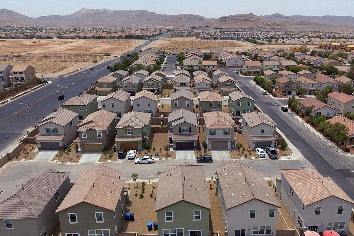 Rental houses owned by American Homes For Rent are shown at the Southwest corner of Pyle Avenu ...
