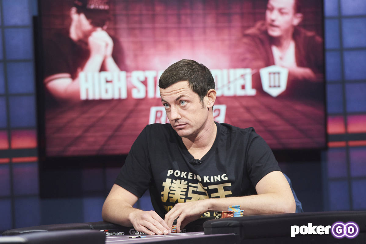 """Tom Dwan during """"High Stakes Duel"""" against Phil Hellmuth on Wednesday, Aug. 25, 2021, at the Po ..."""