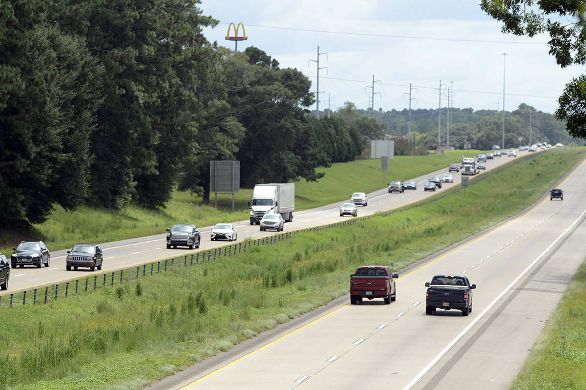 The northbound lanes of Interstate 55 are filled with traffic as people evacuate ahead of Hurri ...