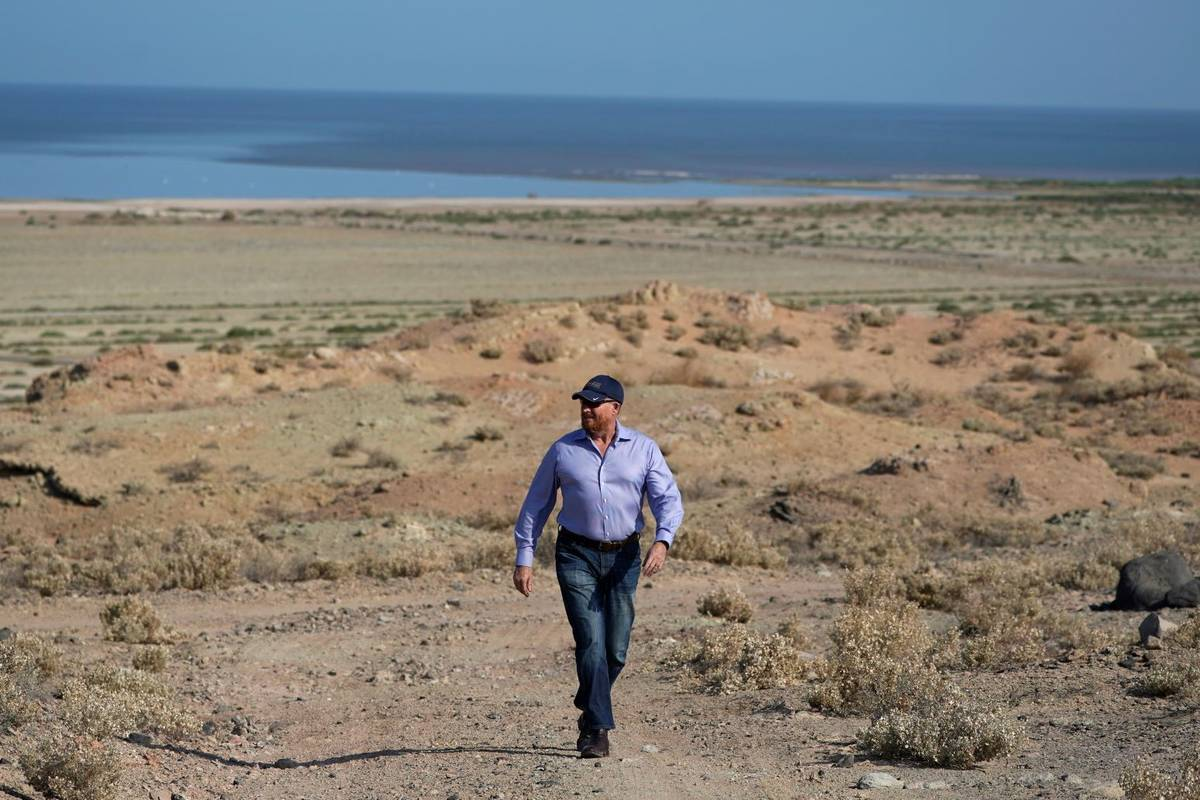 Rod Colwell, CEO of Controlled Thermal Resources, walks on the company's property, which will b ...