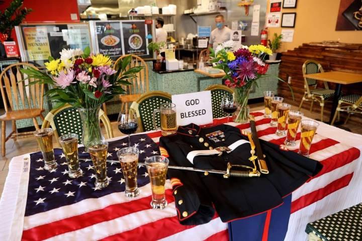 A display at i Thai Kitchen on Craig Road near Jones Boulevard in Las Vegas Monday, Aug. 30, 20 ...