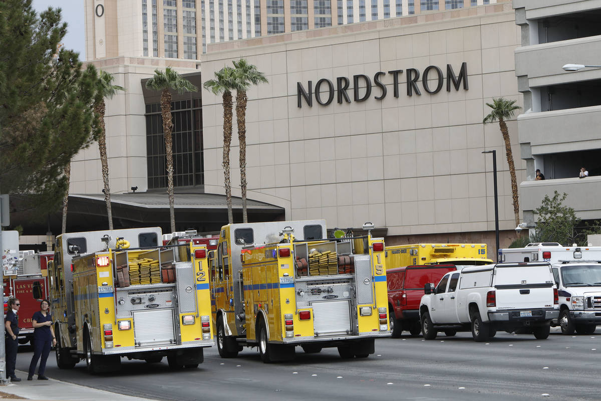 Las Vegas police were investigating a report of a suspicious device near the Fashion Show mall ...