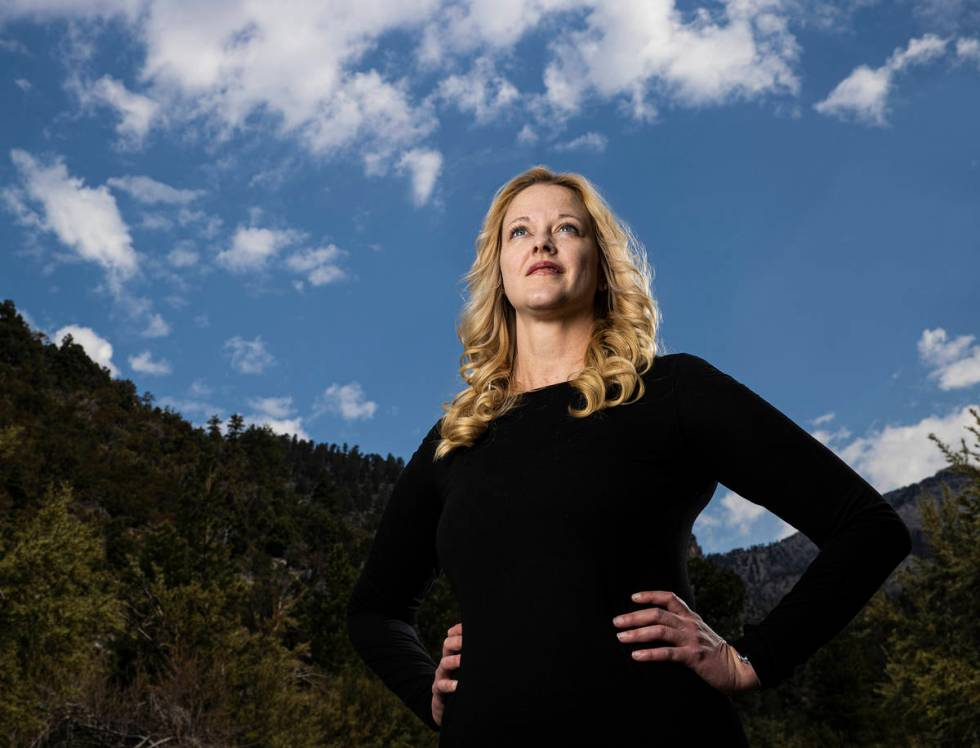 52 Peaks hiker Amy Wolfe at Mount Charleston on Friday, June 18, 2021, outside Las Vegas. (Benj ...