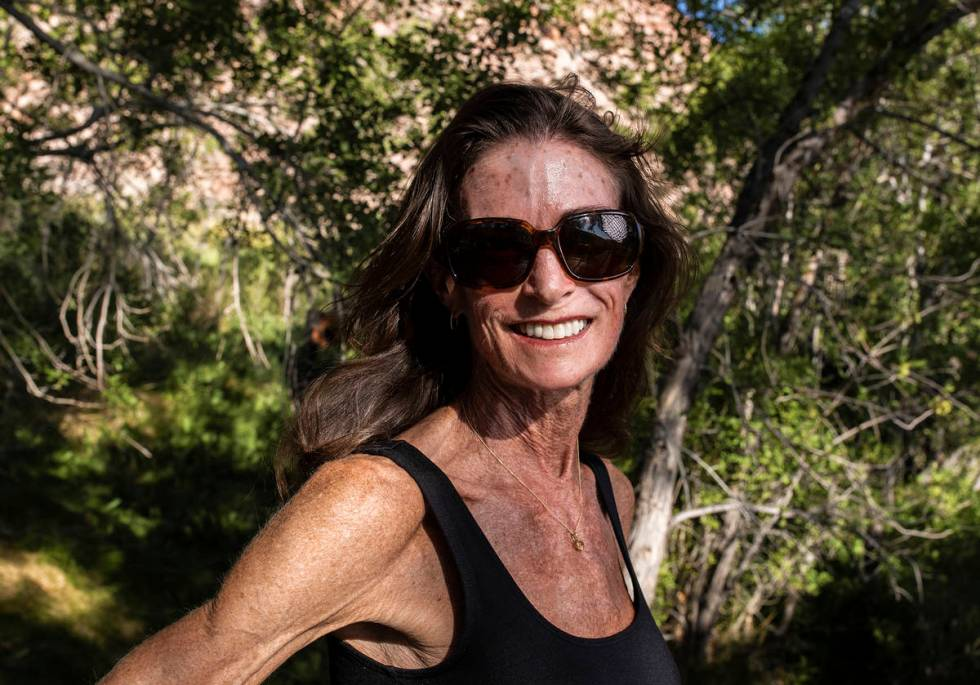 52 Peaks hiker Jessica Colwill at Red Rock Canyon on Monday, June 21, 2021, in Las Vegas. (Benj ...