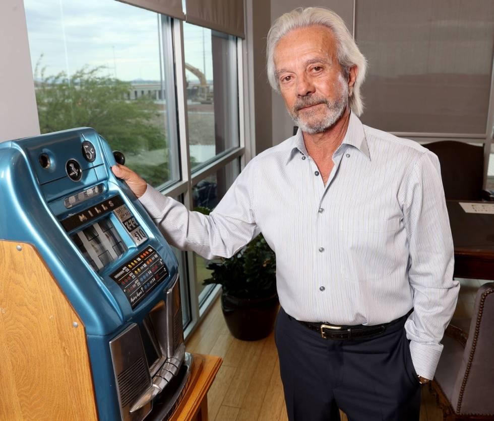 Longtime Las Vegas gaming executive and Johnny Carson partner Ed Nigro in his Las Vegas office ...