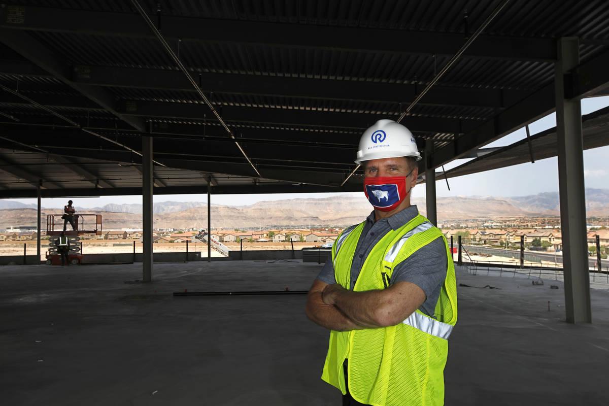 Joseph Sorge, managing member of Digital Desert, LLC. poses for a photo at the construction sit ...