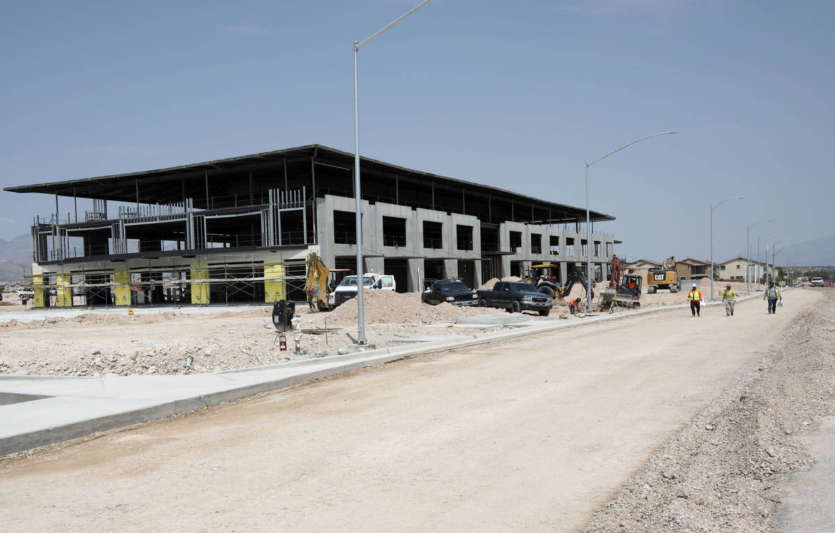 Construction is underway on Evora, a 42-acre project along Buffalo Drive between Post Road and ...