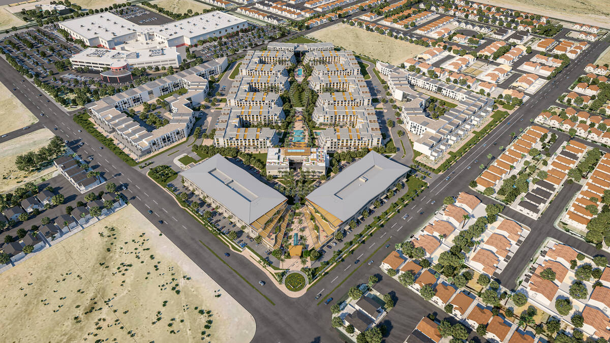 Developer Joe Sorge is building a 42-acre mixed-use project called Evora, a rendering of which ...