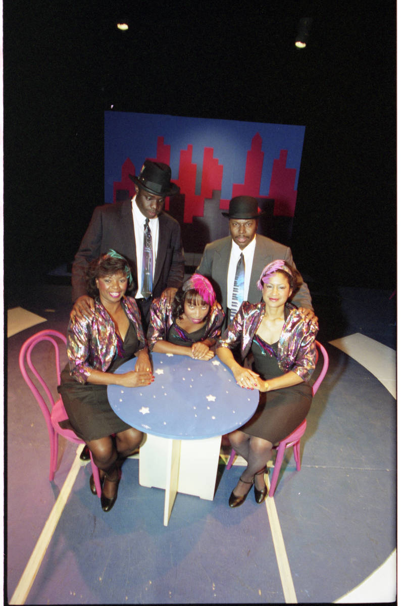 In this October 1993 file photo, members of the Las Vegas Little Theatre's production of the tr ...