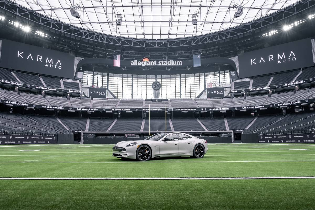 """Karma Automotive was named the """"Official Luxury Vehicle of the Las Vegas Raiders and Allegian ..."""