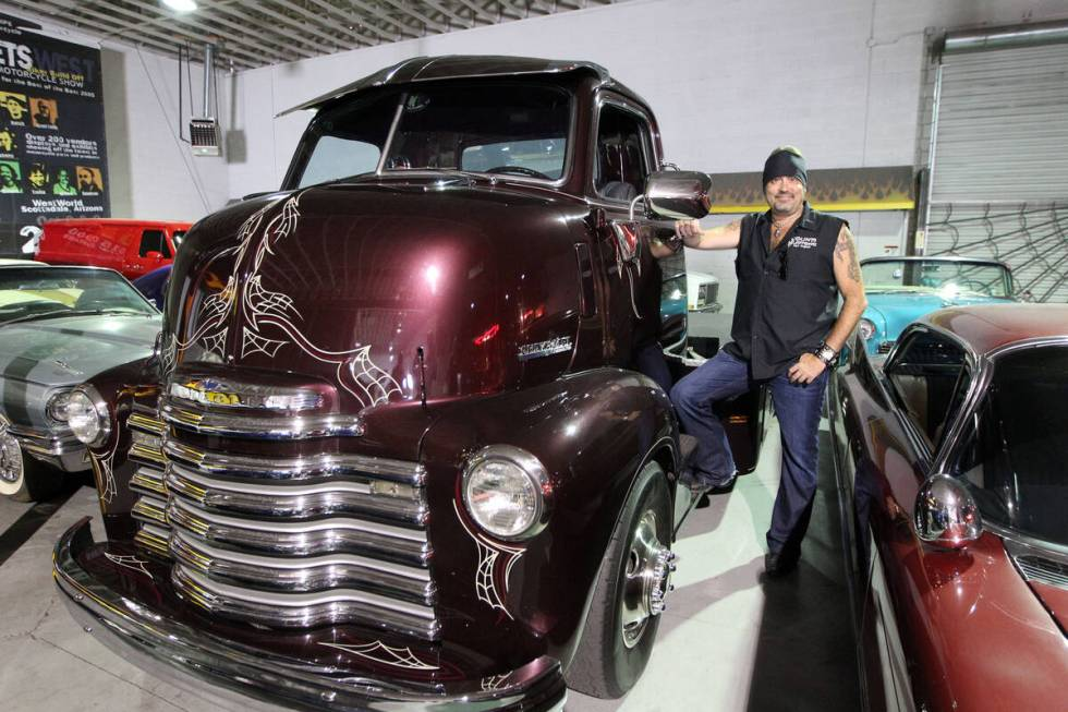 Danny Koker stands next to a 1947 Chevrolet COE (Cab Over Engine) truck that he uses to transp ...