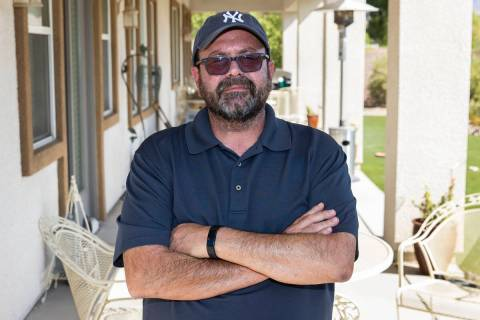 Eric Riccardi poses for a photo at his Las Vegas home, on Thursday, Sept. 2, 2021. Riccardi who ...