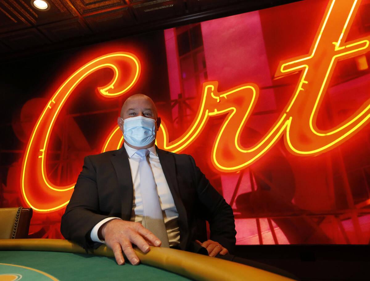 General Manager Adam Wiesberg poses for a photo at El Cortez in Las Vegas, Saturday, Sept. 4, 2 ...