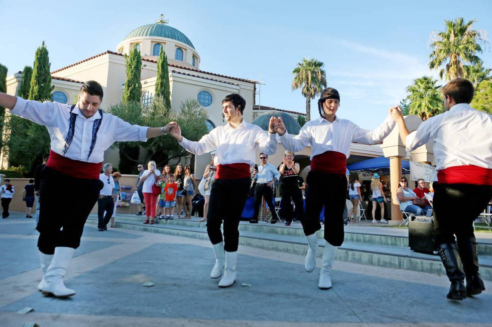 Greek Pride Dancers perform at the 45th Annual Greek Cuisine Festival at St. John the Baptist Gree ...