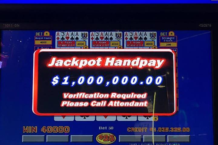 A guest at The Cosmopolitan won $1 million on a draw poker machine on Monday, Sept. 6, 2021. (T ...