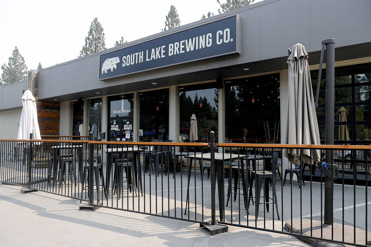 The South Lake Brewing Company is seen in South Lake Tahoe, Calif., Monday, Sept. 6, 2021. Resi ...