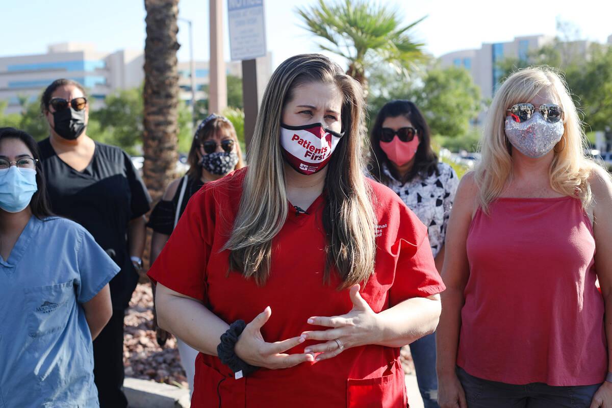 Nicole Taylor, chief nurse representative for National Nurses United and registered nurse in la ...